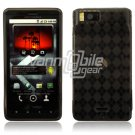 Gray/Smoke 1-Pc Design Hard Rubber Gel Skin Case for Motorola Droid X MB810 (Verizon Wireless)