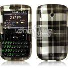 Black Plaid Design Hard Case for HTC Ozone XV6175 (Verizon Wireless)