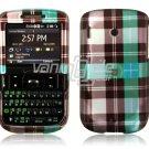 Blue Plaid Design Hard Case for HTC Ozone XV6175 (Verizon Wireless)