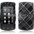 Hard Plastic Design Faceplate Case Cover for LG Bliss UX700 - Gray/Black