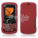 Soft Rubber Silicone Skin Cover Case for Motorola Clutch i465 - Red