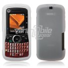 Soft Rubber Silicone Skin Cover Case for Motorola Clutch i465 - Clear