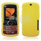 Soft Rubber Silicone Skin Cover Case for Motorola Clutch i465 - Yellow