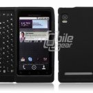 BLACK HARD RUBBERIZE PLASTIC CASE for DROID 2 A955