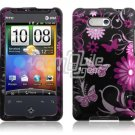 PINK BLACK BUTTERFLY CASE COVER for HTC ARIA PHONE