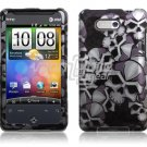 BLACK SILVER SKULL DESIGN ACCESSORY CASE for HTC ARIA