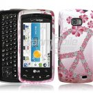 PINK PEACE DESIGN ACCESSORY CASE for VERIZON LG ALLY