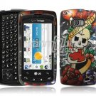 KF SKULL DESIGN HARD FACE PLATE CASE for LG ALLY PHONE