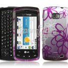 SQUIGGLY FLOWER ARMOR SHIELD CASE for LG ALLY PHONE