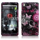 PINK BLACK BFLY CASE for VERIZON MOTOROLA DROID X PHONE