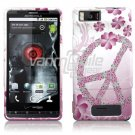 PINK PEACE DESIGN ARMOR SHIELD for MOTOROLA DROID X