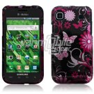 PINK BLACK BFLY FACE PLATE CASE for SAMSUNG VIBRANT 959