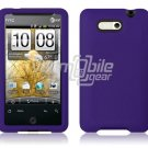 PURPLE SOFT RUBBER SKIN CASE COVER for HTC ARIA PHONE