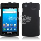 BLACK RUBBERIZED HARD SNAP-ON CASE fr SAMSUNG CAPTIVATE