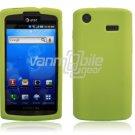 GREEN SOFT GEL SKIN CASE for SAMSUNG CAPTIVATE PHONE