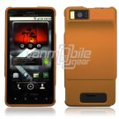 ORANGE HARD 2-PC PLASTIC CASE for MOTOROLA DROID X PHONE