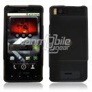 BLACK/SMOKED HARD 2-PC PLASTIC CASE for MOTOROLA DROID X PHONE