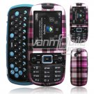 PLAID PINK CASE COVER for SAMSUNG GRAVITY 3