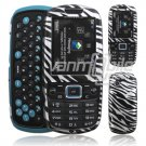 SILVER BLACK ZEBRA CASE COVER for SAMSUNG GRAVITY 3