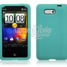 TURQUOISE SILICON CASE COVER for HTC ARIA PHONE SKIN