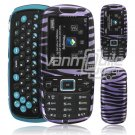 PURPLE BLACK ZEBRA CASE COVER for SAMSUNG GRAVITY 3
