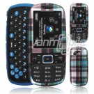 PLAID TURQUOISE CASE COVER for SAMSUNG GRAVITY 3
