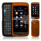 ORANGE HARD 2-PC CASE COVER for LG VU PLUS PHONE GR 700