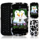 DOG PAWS BLACK/WHITE Design Hard 2-Pc Snap On Faceplate Case for myTouch Slide (T-Mobile)