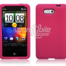 HOT PINK SILICON CASE COVER for HTC ARIA PHONE SKIN