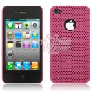 PINK HARD 1-PC MATRIX DESIGN CASE for APPLE IPHONE 4 OS