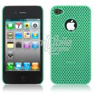 TURQUOISE HARD 1-PC MATRIX DESIGN CASE for APPLE IPHONE 4 OS