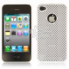 WHITE HARD 1-PC MATRIX DESIGN CASE for APPLE IPHONE 4 OS