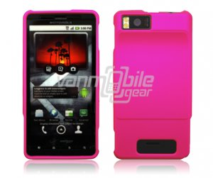 HOT PINK HARD 2-PC CASE COVER for MOTOROLA DROID X PHONE NR