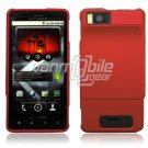 RED HARD 2-PC CASE COVER for MOTOROLA DROID X PHONE NR