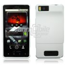 WHITE HARD 2-PC CASE COVER for MOTOROLA DROID X PHONE NR