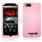 BABY PINK SOFT SILICON SKIN CASE for MOTOROLA DROID X