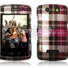 PINK PLAID Hard Case Cover for BlackBerry Storm