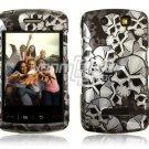 BLACK SKULLS Hard Case Cover for BlackBerry Storm