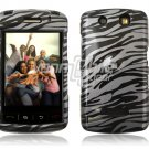 BLACK GRAY ZEBRA Hard Case Cover for BlackBerry Storm