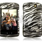BLACK SILVER ZEBRA Hard Case Cover for BlackBerry Storm