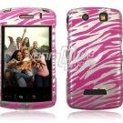 PINK SILVER ZEBRA Hard Case Cover for BlackBerry Storm