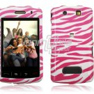 PINK WHITE ZEBRA Hard Case Cover for BlackBerry Storm