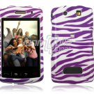 PURPLE WHITE ZEBRA Hard Case Cover for BlackBerry Storm