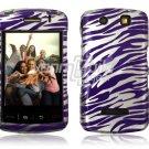 PURPLE SILVER ZEBRA Hard Case Cover for BlackBerry Storm