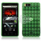GREEN 1-PC DESIGN SKIN CASE for MOTOROLA DROID X PHONE