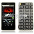 CLEAR 1-PC DESIGN SKIN CASE for MOTOROLA DROID X PHONE