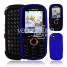 BLUE HARD RUBBERIZE CASE COVER for SAMSUNG INTENSITY