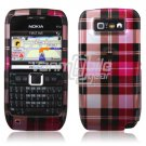 PINK PLAID CASE COVER + SCREEN GUARD 4 NOKIA E71 E71X