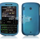 Blue Plastic Rubber Feel Case for HTC Ozone XV6175 - Red
