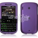 PURPLE Plastic Rubber Feel Case for HTC Ozone XV6175 - Red